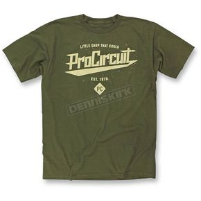 Pro Circuit Military Green Little Shop T-Shirt - 6414101-040