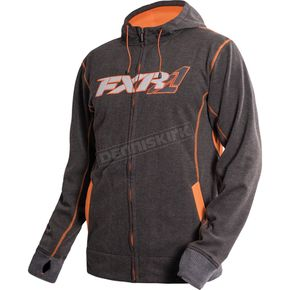 FXR Racing Grey Heather/Orange Trainer Tech Hoody - 16036.20022