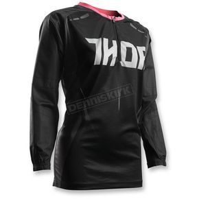 Thor Womens Black/Pink Terrain Contour Jersey - 2911-0149
