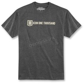 Icon Charcoal Heather Icon 1000 Inline T-Shirt - 3030-13953