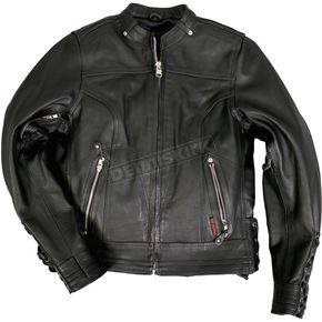Women's Lace Up Sleeves Leather Jacket