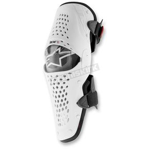 Alpinestars White/Black SX-1 Knee Guard - 6506316-21-SM