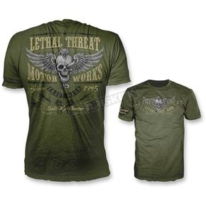 Lethal Threat Green Taste My Venom T-Shirt - VV40118XL