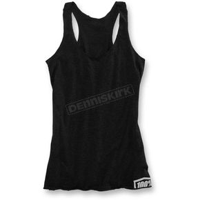 100% Womens Black Merit Tank Top - 28003-001-12