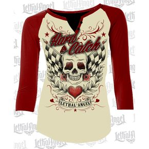Lethal Threat Womens Hard to Catch Raglan Sleeve Shirt - LT20441M