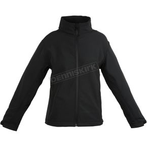 Womens Black Soft Shell Lined Jacket
