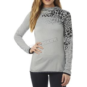 Fox Women's Heather Gray Frenetic Pullover Hoody - 18070-040-M