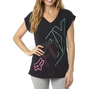 Fox Women's Black Attent V-Neck T-Shirt - 18086-001-XS