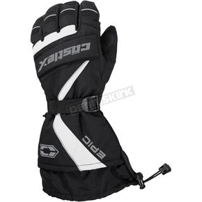 Castle X White/Black Epic Gloves - 74-5202