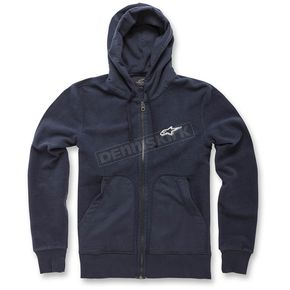 Alpinestars Navy Blue Expo Fleece Zip Hoody - 1036-53000-70L