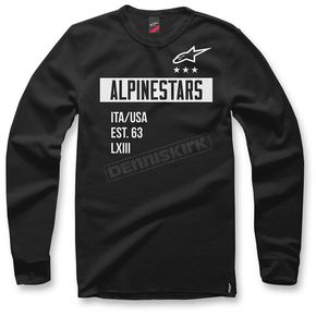 Alpinestars Black Valiant Crew Fleece Pullover - 1036-51007-10S