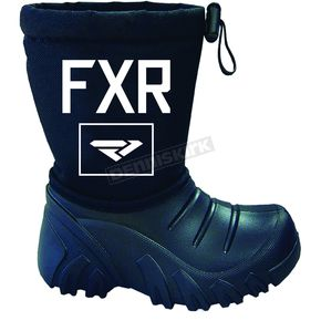 FXR Racing Child's Black Shredder Boot - 170702-1000-24