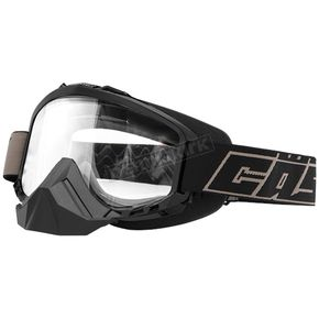 Castle X Black Sno Force Goggle w/Clear Lens - 64-1571