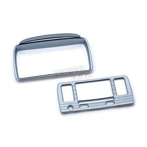 Kuryakyn Chrome Tri-Line Stereo Trim for Boom! Box 4.3 - 6966