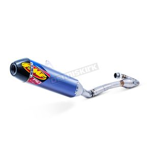 FMF Blue Anodized Stainless/Titanium Factory 4.1 RCT Exhaust System w/Carbon End Cap - 044438