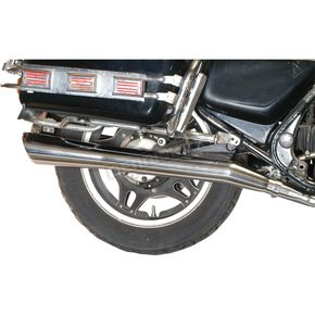 Mac 4-into-2 All-Chrome Slash-Down Exhaust System - 001-1088