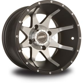 Sedona Rear Black Machined Storm 12 x 7 Wheel  - 570-1164