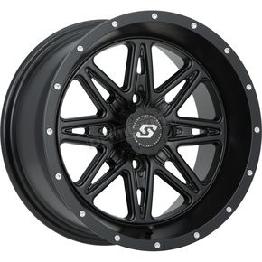 Sedona Front/Rear Black Badlands 14 x 7 Wheel - 570-1187