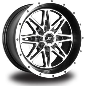 Sedona Front/Rear Machined Black Badlands 12 x 7 Wheel - 570-1205