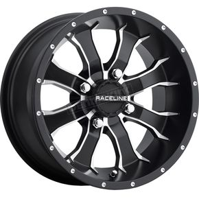 Front/Rear Machined Black Raceline Mamba 14 x7 Wheel - 570-1591