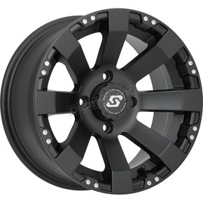 Front/Rear Spyder Black 14x7 Wheel - 570-1153