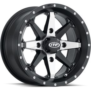 Matte Black Cyclone 15x7 Wheel - 1522309727B