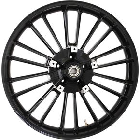 Front Black 21 x 3.5 ABS Atlantic 3D Wheel - 3D-ATL213SB-ABS