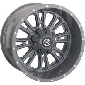 Gray Rear 399X 12x8 Wheel - 0230-1117