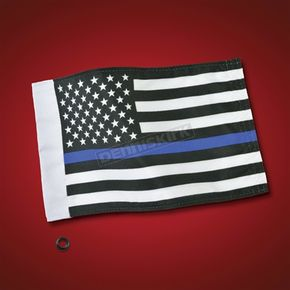 Show Chrome Thin Blue Line Flag - 4-240LE