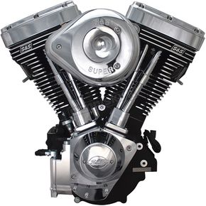 Black/Chrome V124 Complete Assembled Engine - 31-9885