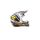 Black/White/Yellow F2 Carbon Rockstar Helmet - 73-4075XS