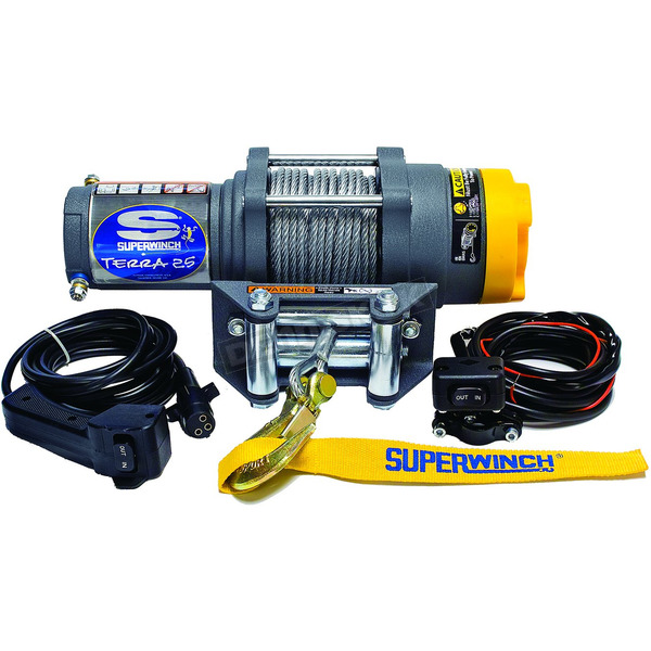 Superwinch Terra25 2500LB Winch with Wire Rope - 1125220