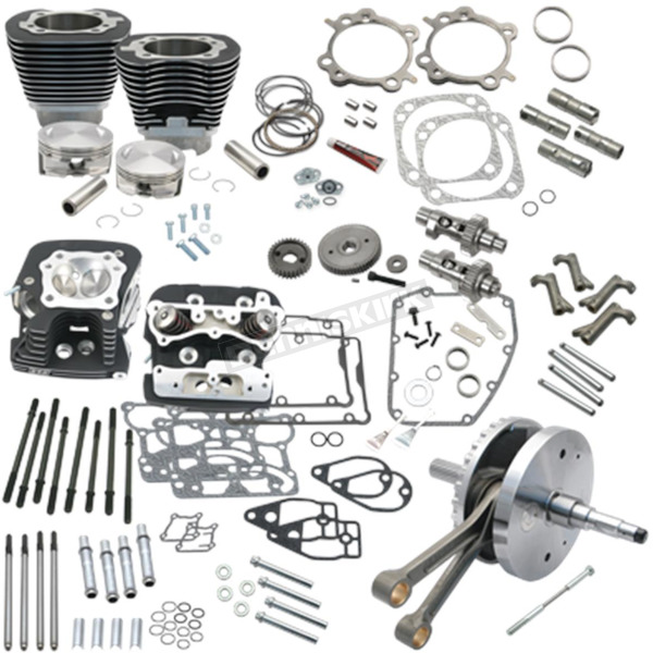 S&S Cycle Black Powder-Coat 124 in. Hot Set-up Kit - 900-0568