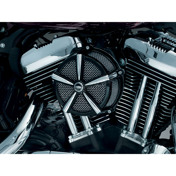 Kuryakyn Black/Chrome Hi-Five Mach 2 Air Cleaner Kit - 9549