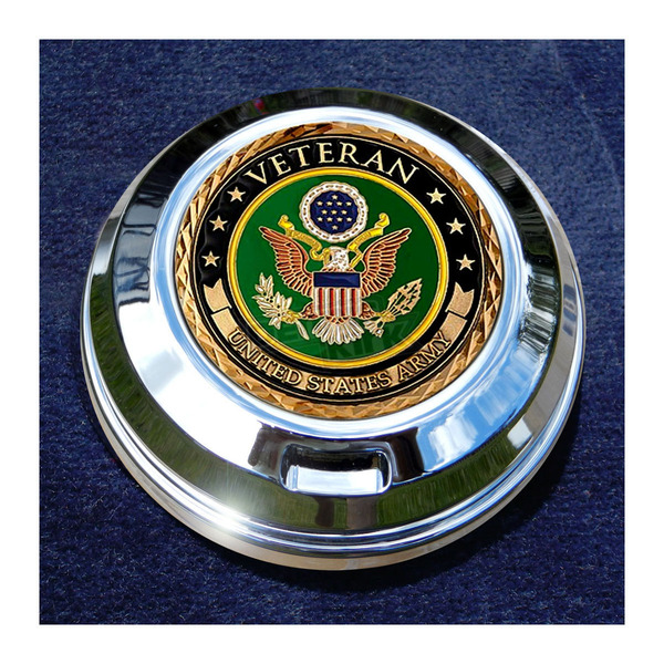 Motordog69 FCM 1.8  Fuel Cap Coin Mount With Veteran US Army 2-Sided Coin - JMPC-FC-VARMY