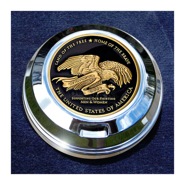 Motordog69 FCM 1.8  Fuel Cap Coin Mount With Support Our Troops 2-Sided Coin - JMPC-FC-THANKTRO