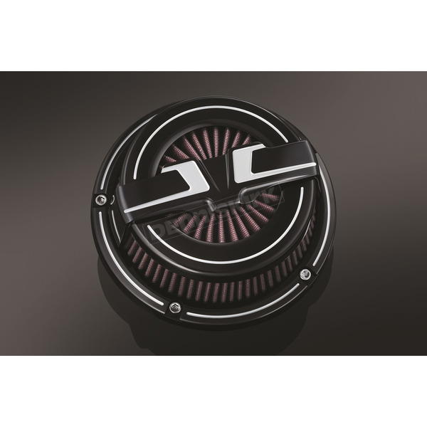 Bahn Black/Chrome Tuxedo Air Cleaner Kit - 9582