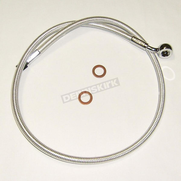 Custom Sterling Chromite II Designer Series ABS Upper Brake Line - 90°, 10mm, 26 in. - AS37226