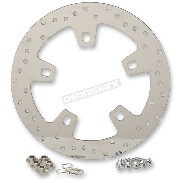 Front 11.8 in. Polished Stainless Steel Brake Rotor - 1710-2403