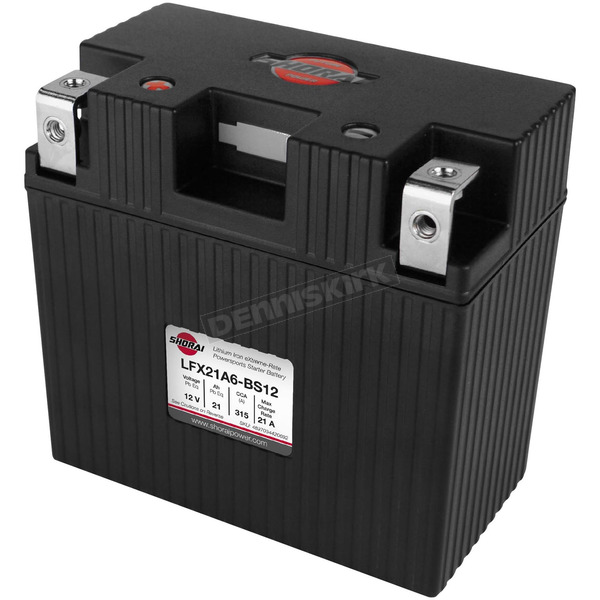 Shorai Xtreme-Rate 12-Volt LifePo4 LFX Lithium Battery - LFX21A6-BS12