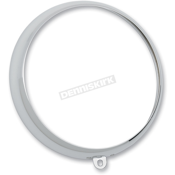 Drag Specialties Chrome 7 in. Headlight Trim Ring - 2001-0557