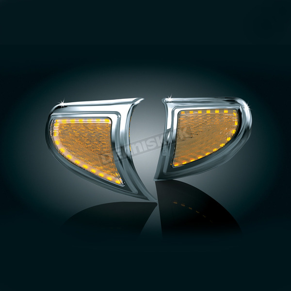 Kuryakyn Headlight Outer Trim w/Turn Signal Accents - 7364