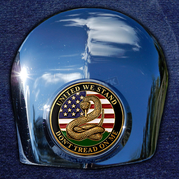 Motordog69 Crown 1.8  Horn Cover Attachment With Don't Tread On Me 2-Sided Coin - JMPC-HC-DTOM