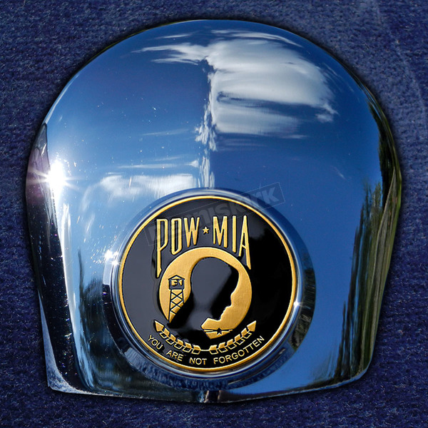 Motordog69 Crown 1.8  Horn Cover Attachment With POW*MIA 2-Sided Coin - JMPC-HC-POW-MIA