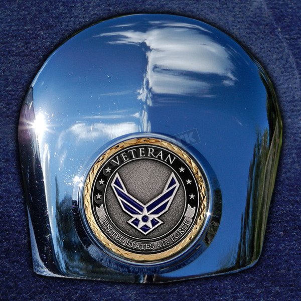 Motordog69 Crown 1.8  Horn Cover Attachment With Veteran US Air Force 2-Sided Coin - JMPC-HC-VAIRFORC