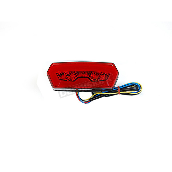 Competition Werkes Chrome Integrated Taillight w/Red Lens - MPH-30127R