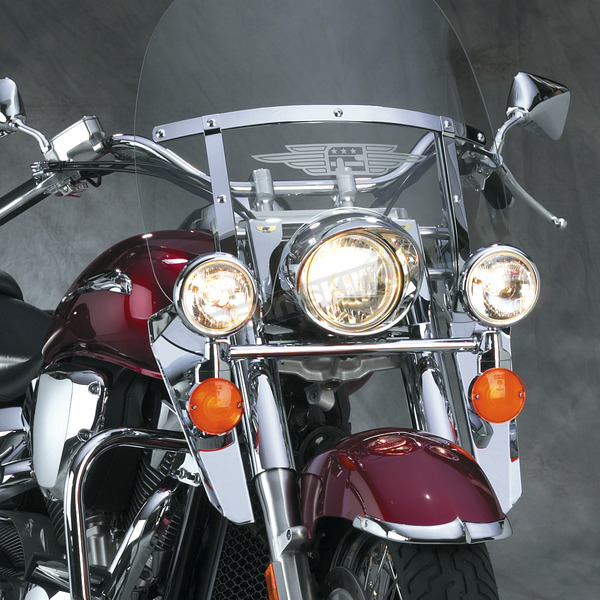 National Cycle 16 1/2 in. Chrome Heavy Duty Windshield Lowers - N763A