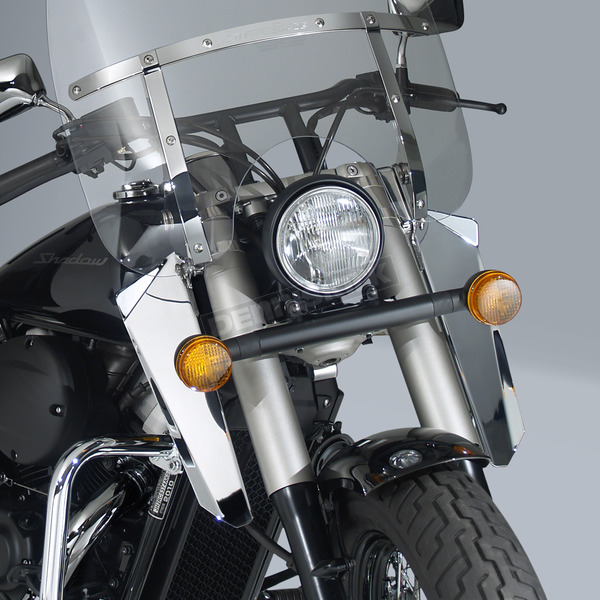 National Cycle 16 in. Chrome Switchblade Windshield Lowers - N76601