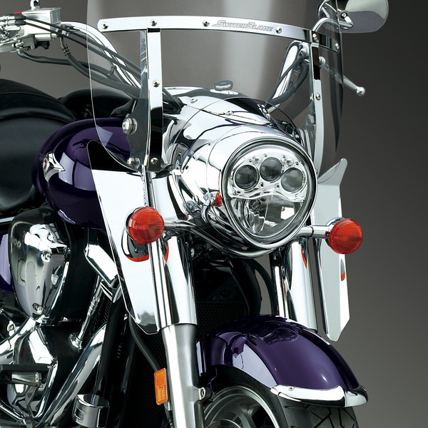 National Cycle 16 in. Chrome Switchblade Windshield Lowers - N76603