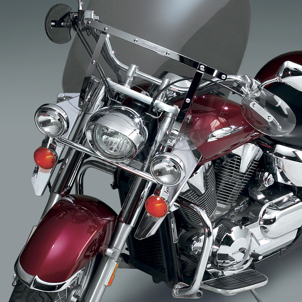 National Cycle 15 in. Chrome Switchblade Windshield Lowers - N76607